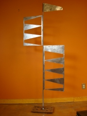 """Kinetic Flags - both sections rotate 20"""" W x 6' H"""