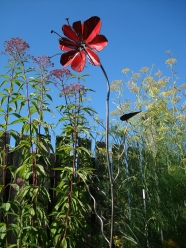 "red flower - 6'H x 14""W"