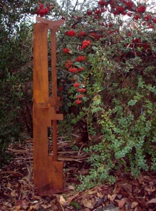 american craftsman tower - laser cut remnants 4' H x 1' W - prong base