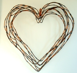 "heart willow wreath- 17"" W x 17"" H x 3"" D"