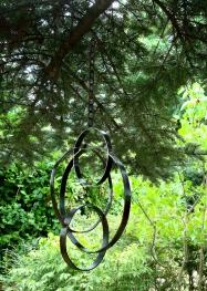 """large hoop chime - 22"""" H multi dimensional hoops"""