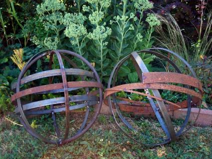 """random orbs - scrap steel random orbs 16""""H to 18""""H"""