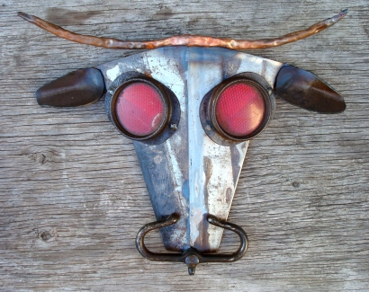 "Bullseye - 14""W x 14""H."