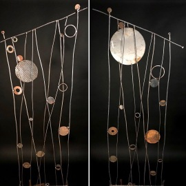 2 Bubbles in the Seaweed trellises, reclaimed materials, 6'Hx2'W