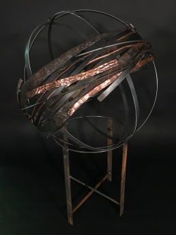 "Copper Whirling Orb, 29""Wx45""H"