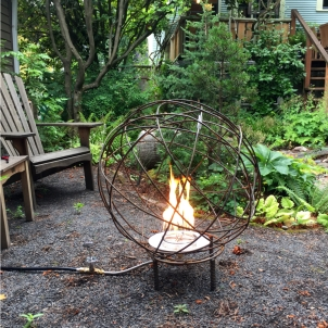 A creative client tuned this Yarn Orb into a fire pit. What a great idea!